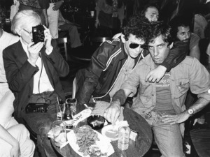 Danny Fields, at right, with Lou Reed and Andy Warhol in an undated photo